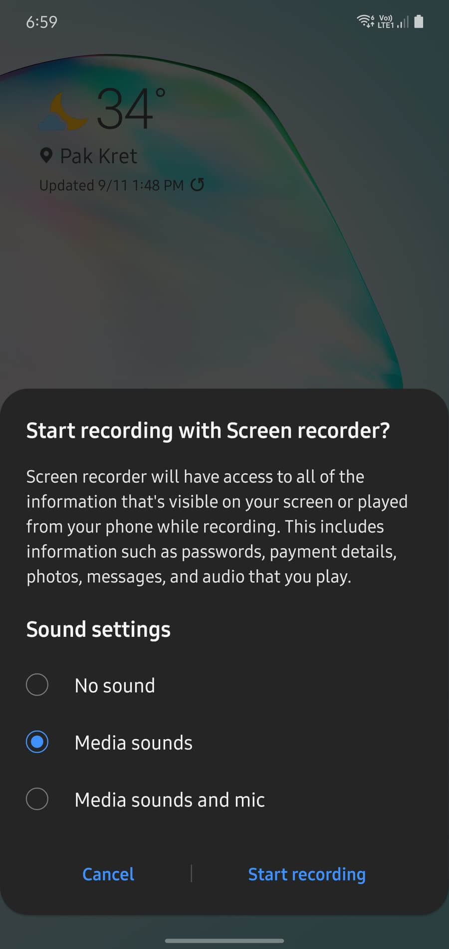 How to video screen recording samsung 00001