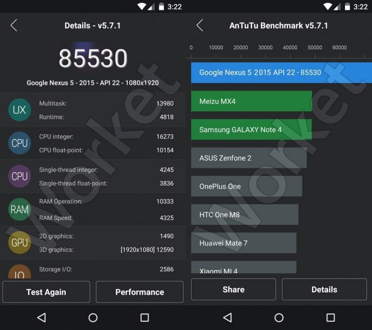 โอ้โห! Nexus 5 (2015) ทดสอบผ่านแอพ Antutu ได้คะแนนถึง 85,000 เลยหรอเนี้ย