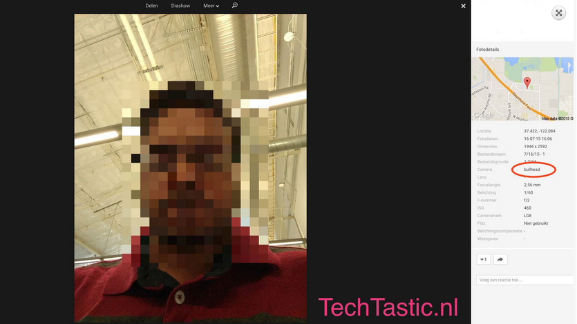 หลุดภาพ Selfie จากกล้องหน้า LG Nexus 5 (2015) โชว์ความละเอียด 5 ล้านพิกเซล f/2.0