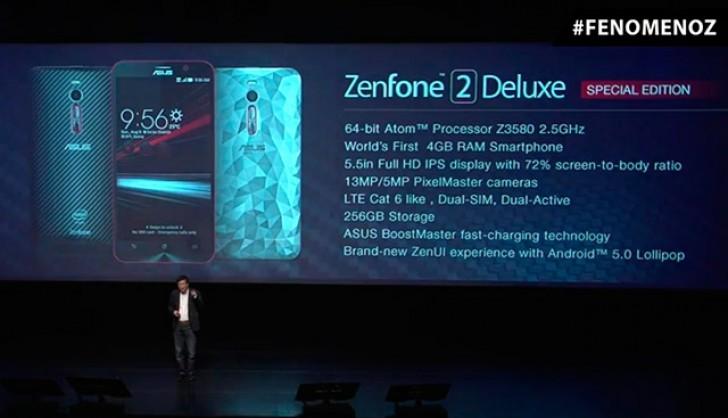 เปิดตัวมือถือ Asus Zenfone 2 Deluxe Special edition ที่ประเทศบราซิล มาพร้อมหน่วยความจำภายใน 256GB สุดยอดดดด!