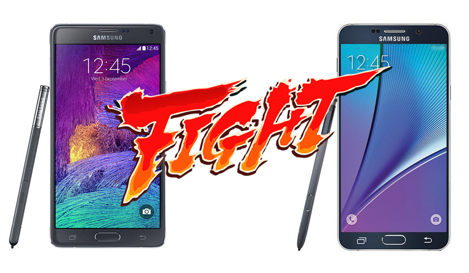 note4 vs note 5