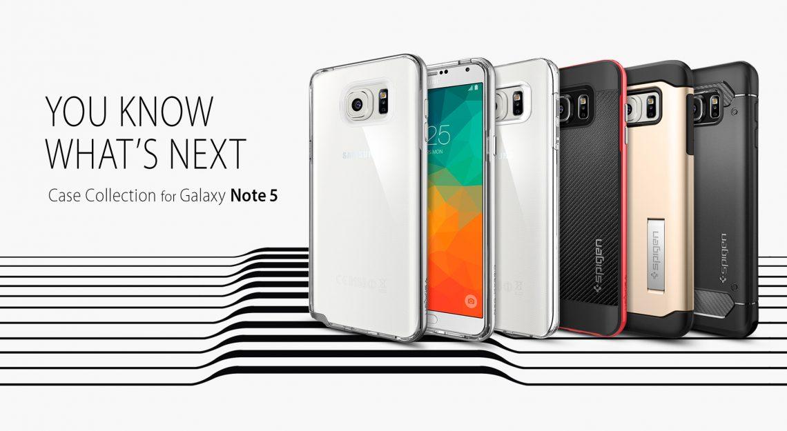 Spigen เปิดขายเคส Samsung Galaxy Note 5 และ Galaxy S6 Edge Plus เห็นตัวเครื่องชัดเจนไม่ต้องรอ Unpacked แล้ว