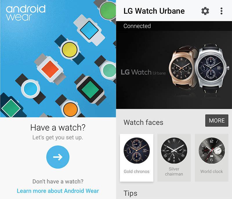 Android wear iOS app