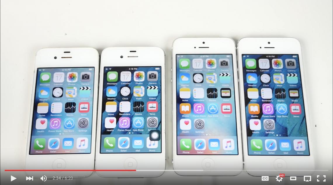 วีดีโอเปรียบเทียบ iPhone 4s กับ iPhone 5 เมื่อลง iOS 9 และ iOS 9.1 จะเป็นยังไง ลื่นไหม มาดูกัน!!