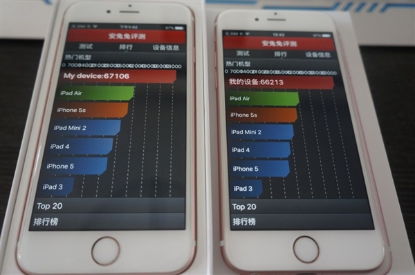 Apple iPhone 6s with TSMC vs iPhone 6s with Samsung A9 processors10