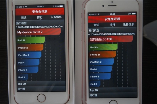 Apple iPhone 6s with TSMC vs iPhone 6s with Samsung A9 processors12