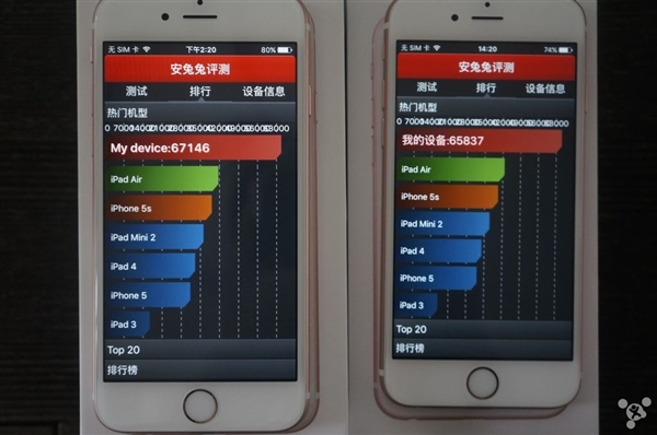 Apple iPhone 6s with TSMC vs iPhone 6s with Samsung A9 processors2