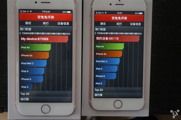 Apple iPhone 6s with TSMC vs iPhone 6s with Samsung A9 processors6