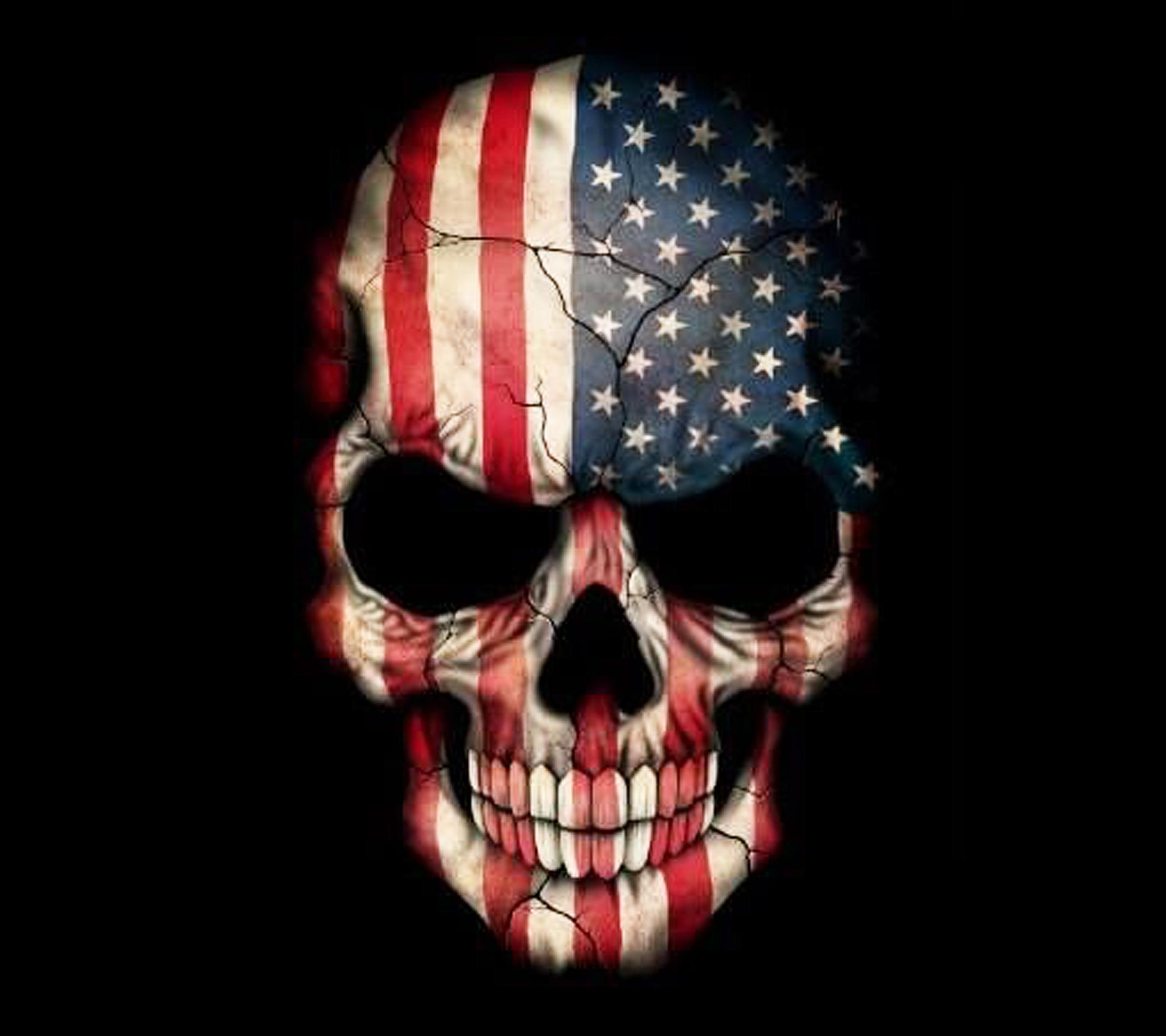 US Skull wallpaper 10542991