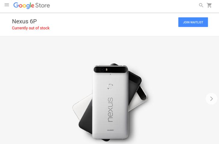 Nexus 6P ใน Google Store ขายหมดแล้ว!!!