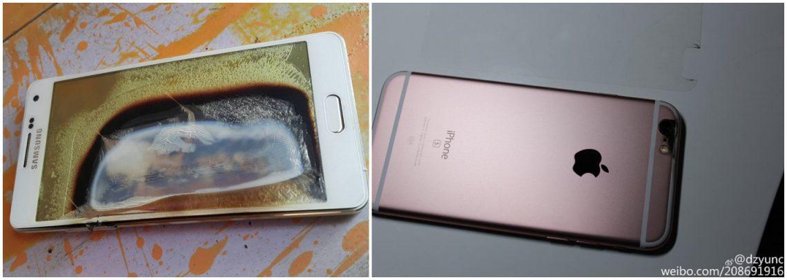 Samsung Galaxy A5 ร้อนจนไหม้ในไทย และ iPhone 6s ก็ร้อนจนละลายในจีนเช่นกัน..