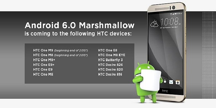mise a jour android marshmallow smartphones tablettes htc one m desire butterfly image 00 w782