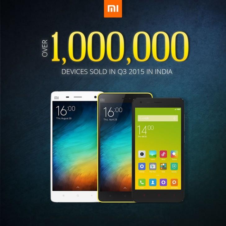 Xiaomi ยอดขายดีจัด!!หลังจำหน่ายได้มากกว่า 1 ล้านเครื่องในประเทศอินเดีย!!