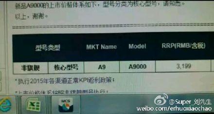 Samsung Galaxy A9 price 01