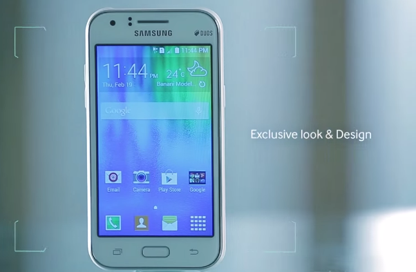 samsung galaxy j1 mini with 4.3 inch display