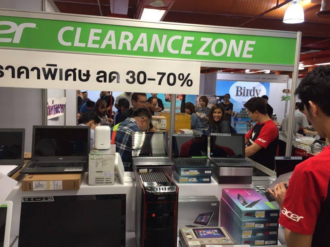 พาส่อง Acer Clearance ในงาน TME 2016 ลดเลย 70% มือถือราคาเริ่มต้น 990 บาท!!
