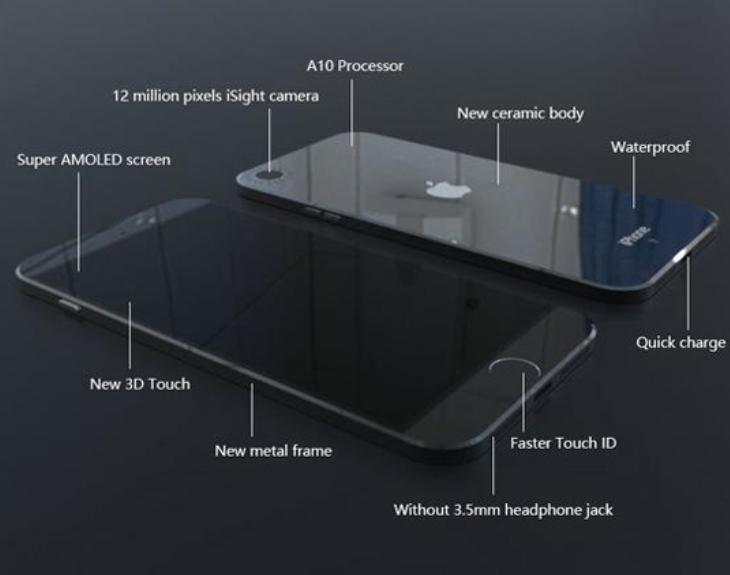 มาอีกแล้ว !!! ภาพเรนเดอร์ใหม่ iPhone 7 ด้านหลังวัสดุทำจากเซรามิก และไม่มีรูเสียบหูฟังเหมือนเดิม !!!