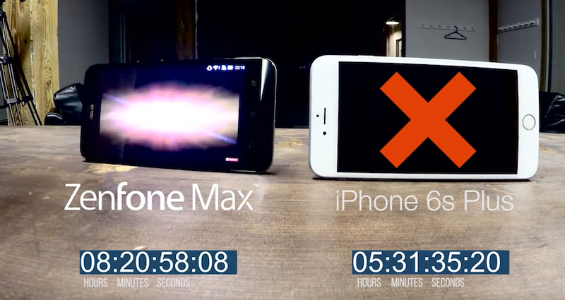 [มีคลิป] ASUS Zenfone Max ท้าชน iPhone 6s Plus เปิดวีดีโอแบบมาราธอน ใครจะอึดว่ากัน!!
