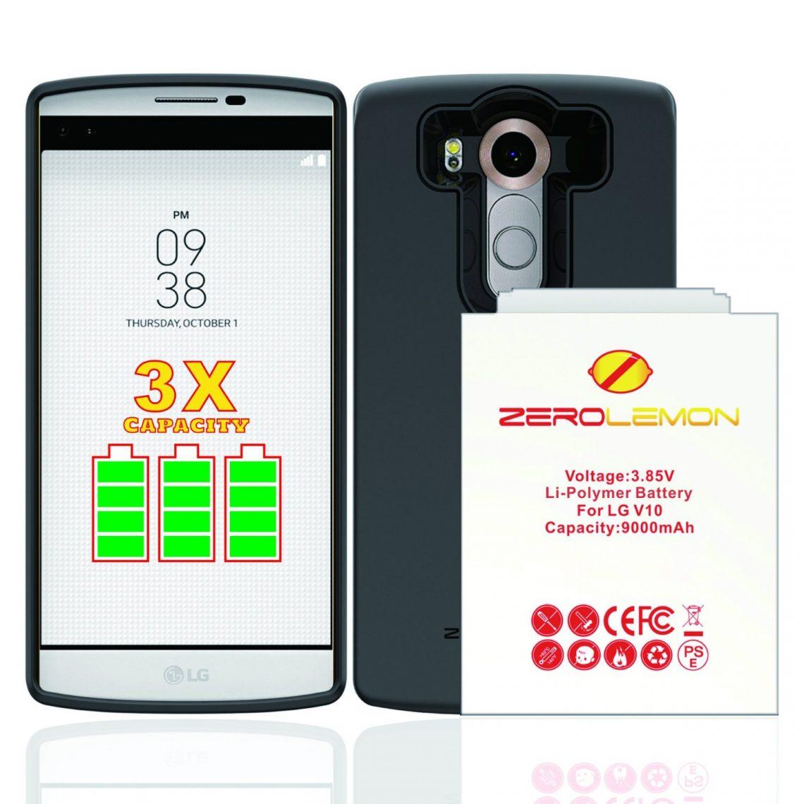แบตเตอรี่ 9,000 mAh จาก ZeroLemon สำหรับ LG V10 พร้อมให้คุณเป็นเจ้าของแล้วใน Amazon !!!
