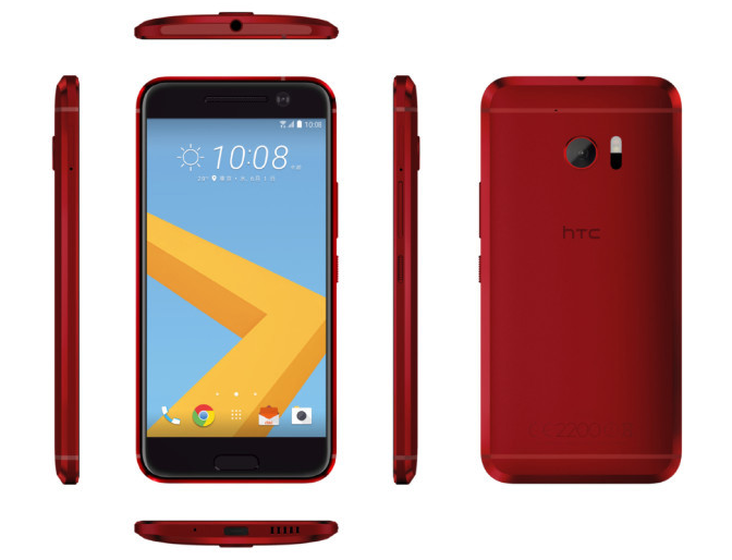 HTC 10 in red