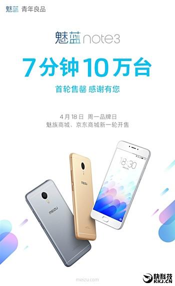 เร็วแรงทะลุนรก !!! Meizu ทำยอดขาย Meizu M3 Note ได้กว่า 1 แสนเครื่องในเวลาเพียง 7 นาทีแรกที่เริ่มขาย!!!