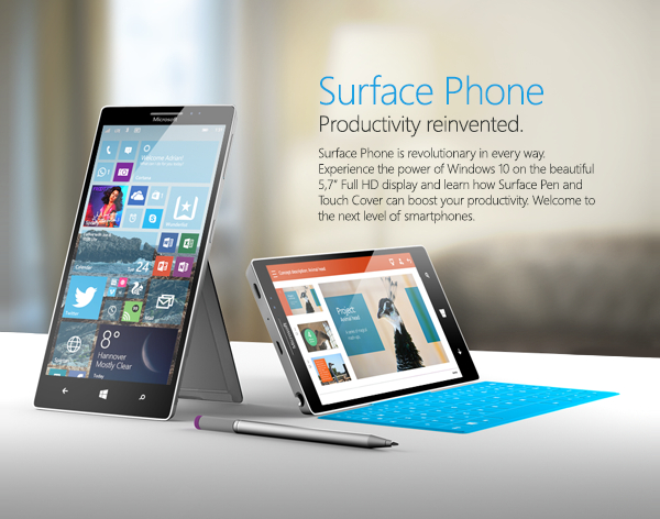 Surface Phone concept renders by Behance