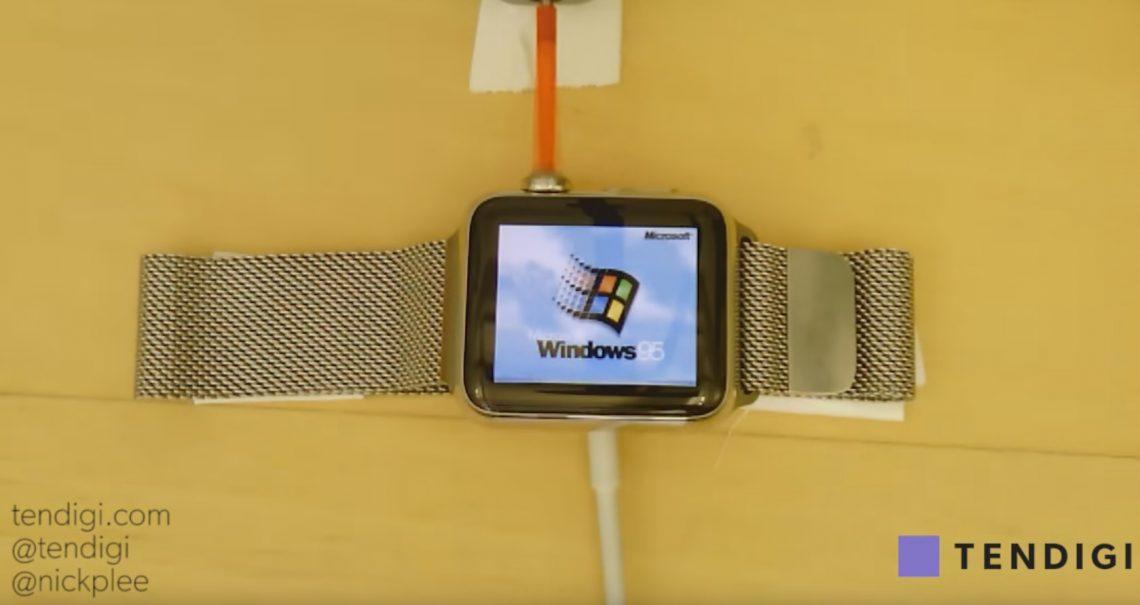 ชมคลิป !! จับ Apple Watch มารัน Windows 95 มาดูกันว่าผลออกมายังไง