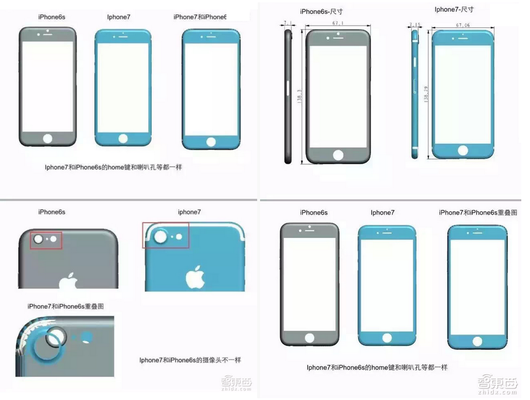 ภาพหลุดอีกภาพที่ยืนยันว่า iPhone 7 จะมีการปรับเปลี่ยนเพียงเล็กน้อยจาก iPhone 6s