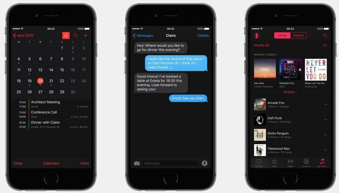 เปลี่ยนสไตล์ !! Apple เตรียมเพิ่ม Dark Mode ลงใน iOS 10 ??