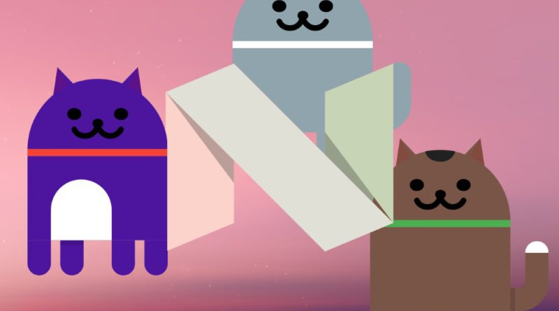 android nougat easter egg cat