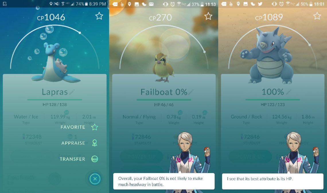Pokemon GO ออกอัพเดทฟีเจอร์ใหม่ มีเทรนเนอร์ประจำทีมบอกใบ้ IV และเพิ่มเมนูแสดงศักยภาพของโปเกมอน !!