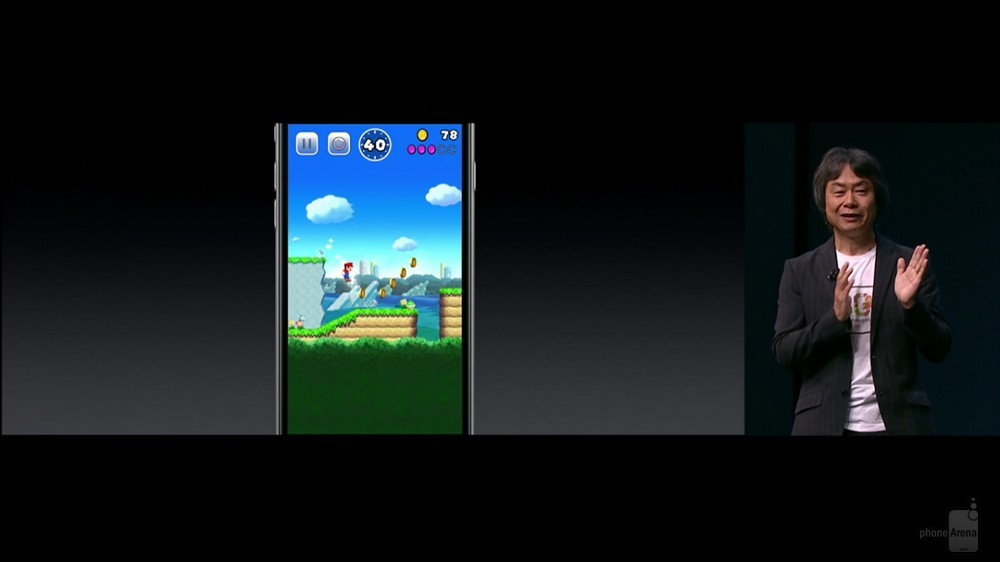 Super Mario Run demoed during Apples September 7 event
