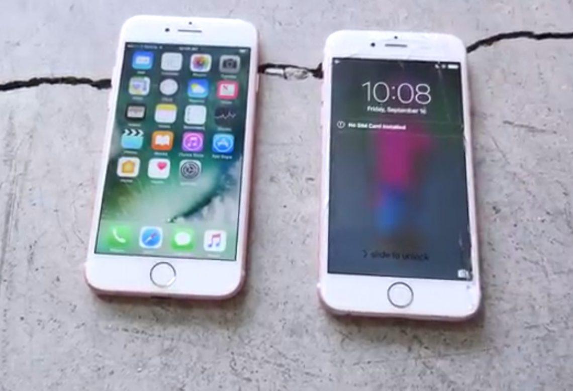 ชมคลิป !! Drop Test ระหว่าง iPhone 7 และ iPhone 6s พบว่ามันถึกขึ้นมากจริง ๆ !!