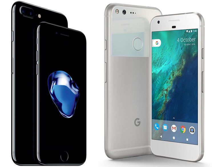 เผยคะแนนทดสอบจาก GeekBench ระหว่าง Google Pixel XL กับ iPhone 7 Plus !!