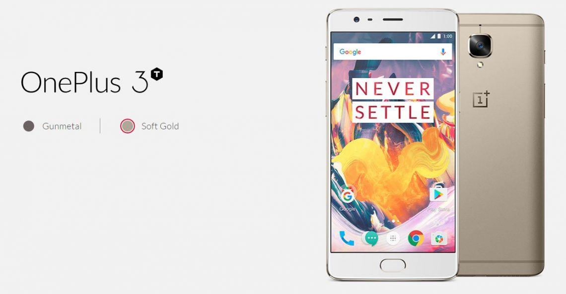 เผยสเปค OnePlus 3T บนเว็บไซต์ของ OnePlus มากับชิป Snapdragon 821 แรม 6 GB รอม 128 GB และกล้อง 16 MP !!