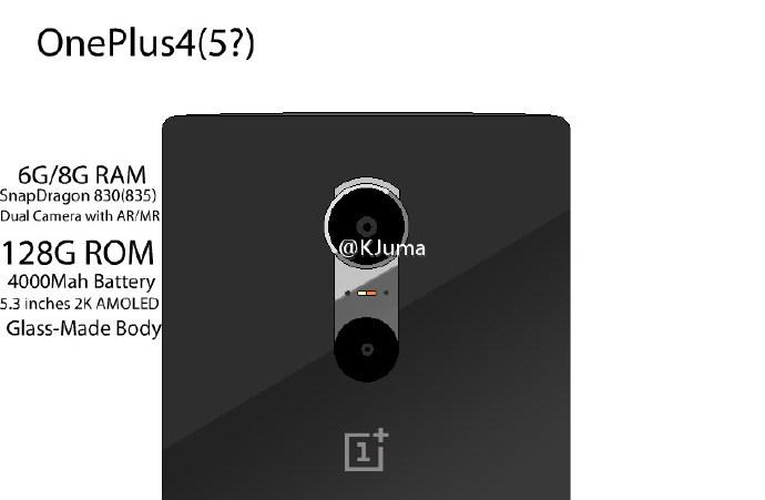 ลือ !! OnePlus 4 จะมาพร้อมกับชิป Snapdragon 830 แรมขนาด 8 GB กล้องหลัง 2 ตัวและแบตเตอรี่ 4,000 mAh !!