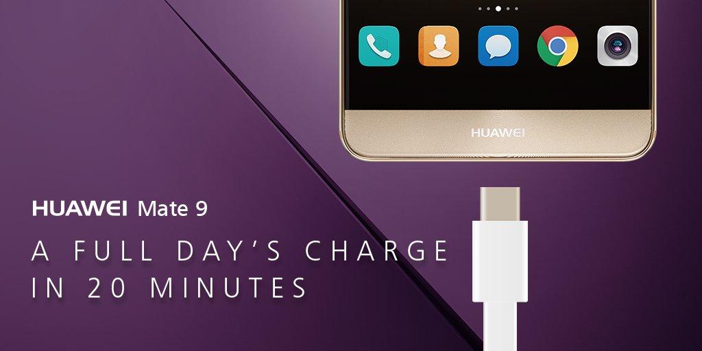 ทดสอบเทคโนโลยี Super Charge ใน Huawei Mate 9 เทคโนโลยีที่ชาร์จแบตไวที่สุด สามารถชาร์จแบต 58% ในเวลา 30 นาที !!