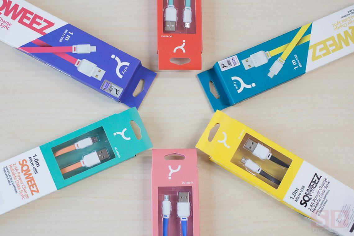 [Review] รีวิว Why รุ่น SQWEEZ สายชาร์จ Lightning USB และ Micro USB แบบแบน หลากสี ในราคาย่อมเยา