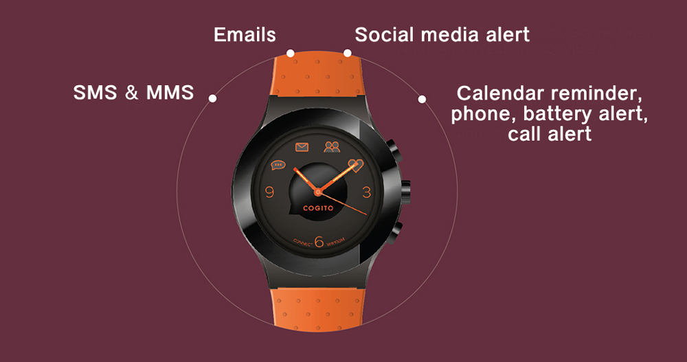Cogito Smartwatch Fit Red Marsala - 1