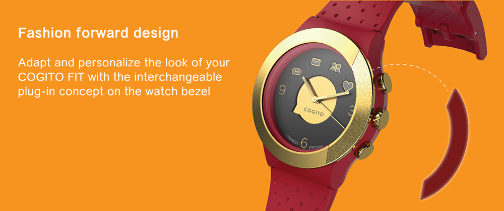 Cogito Smartwatch Fit Red Marsala - 2