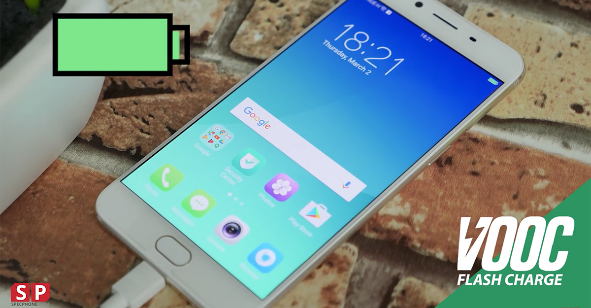 OPPO R9s VOOC Fast Charge
