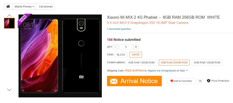 Xiaomi Mi MIX 2 1