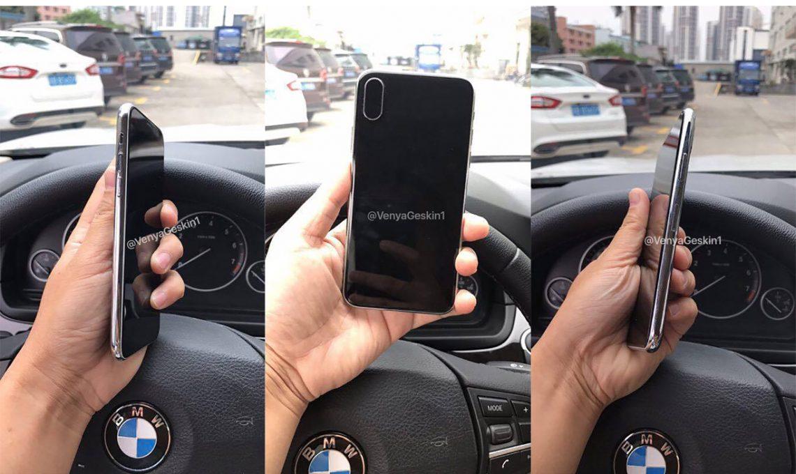 หลุด เครื่องต้นแบบ iPhone 8 พบ Touch ID ในหน้าจอ และกล้องคู่แนวตั้ง