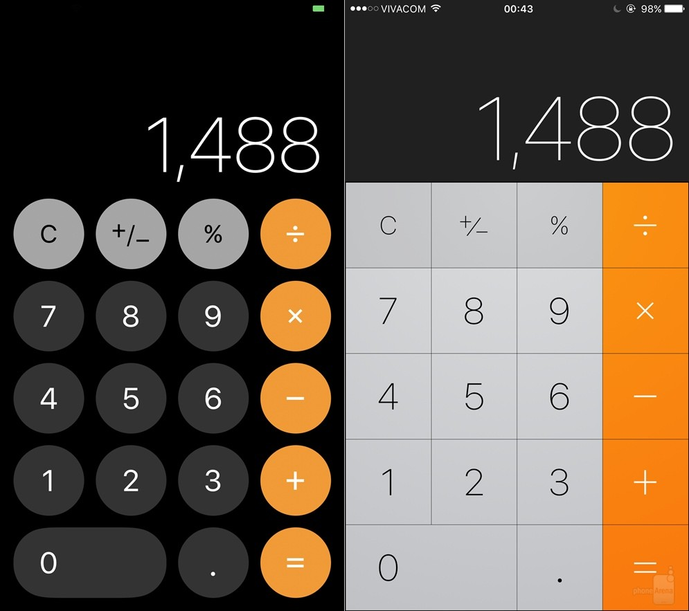 Calculator---iOS-11-left-vs-iOS-right