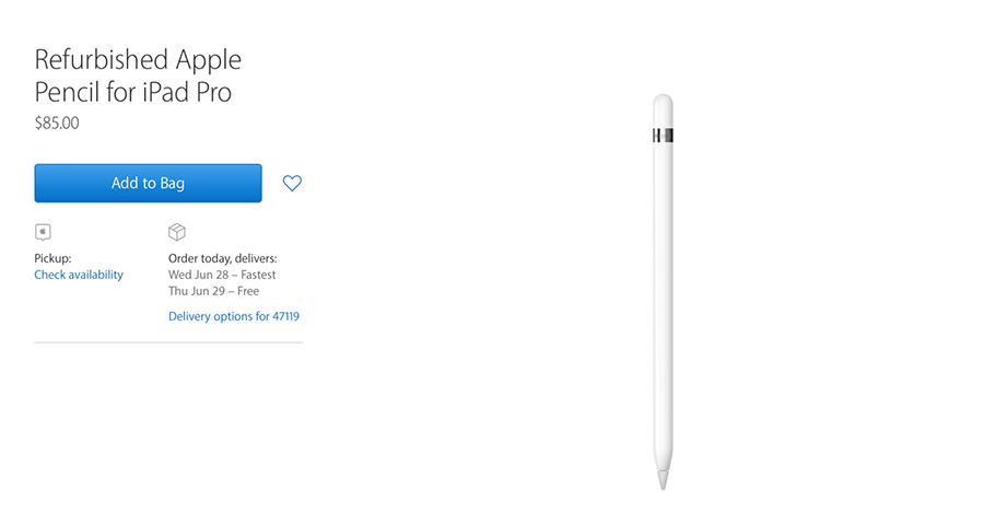 สนใจไหม? Apple ขาย Apple Pencil Refurbished ในราคาประมาณ  2,800 บาท