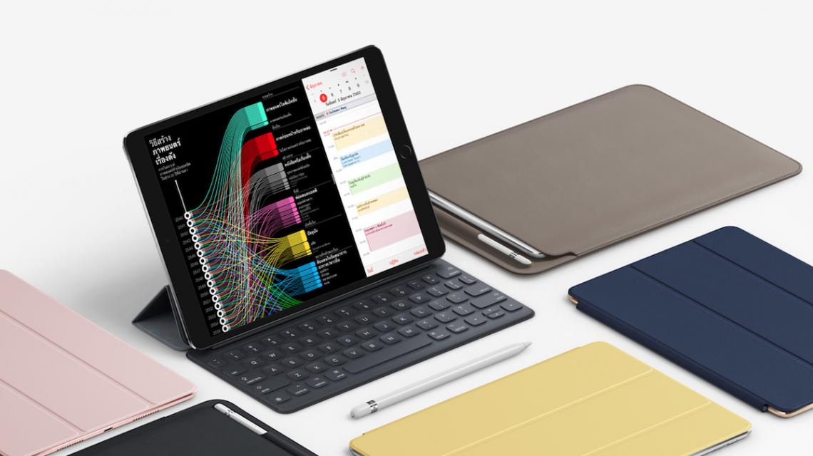 เปิดตัว iPad Pro 10.5 นิ้ว ปรับสเปคให้แรงขึ้น หน้าจอ 120Hz เริ่มต้น 64 GB ราคา 24,500 บาท!!