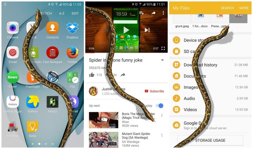 Snake-on-Screen