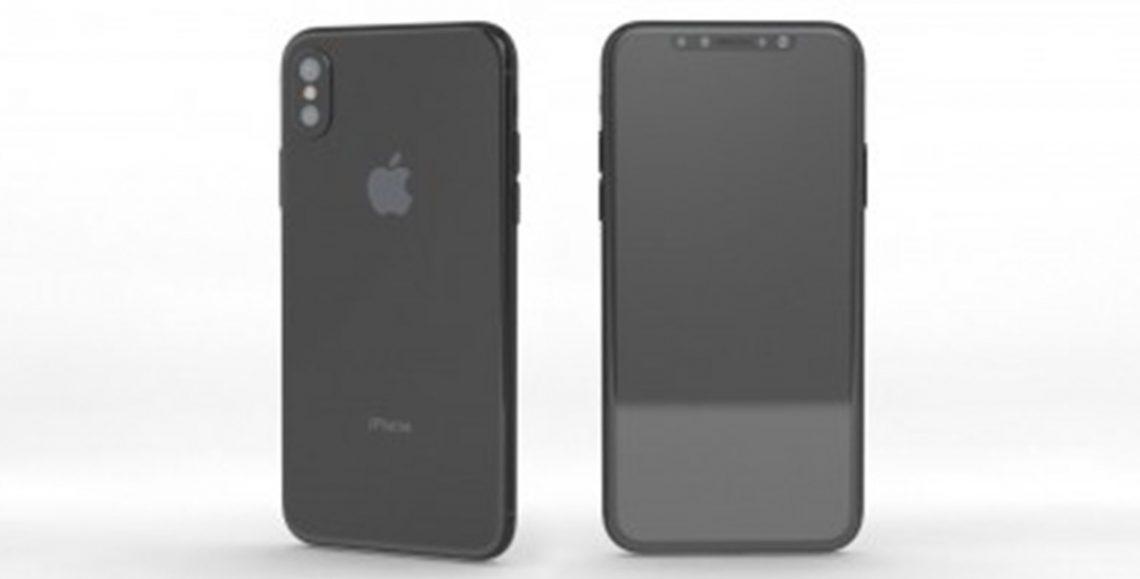 ภาพเรนเดอร์ iPhone 8 แสดงให้เห็นถึงปุ่ม Power ที่ใหญ่กว่าเดิมซึ่งอาจจะสามารถสแกนลายนิ้วมือได้