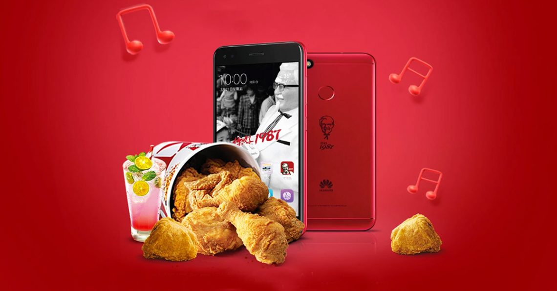 KFC ครบรอบ 30 ปีในจีน เปิดตัวสมาร์ทโฟนรุ่นพิเศษร่วมกับ Huawei