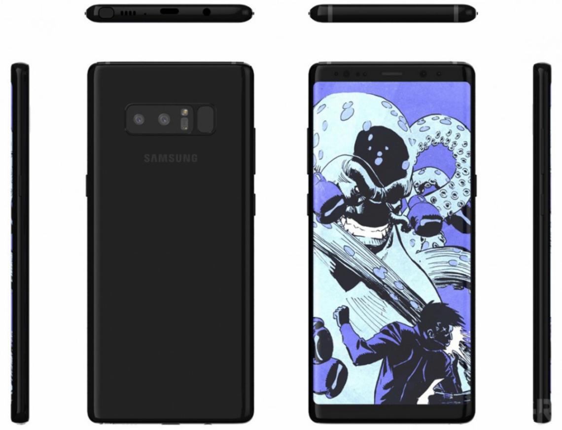 หลุดภาพเรนเดอร์ Samsung Galaxy Note 8 ครบทุกด้านแบบชัดๆ